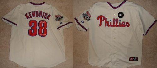 Kyle Kendrick Signed Phillies World Series Jersey Mlb Inscribed Ws 08 Champ Coa