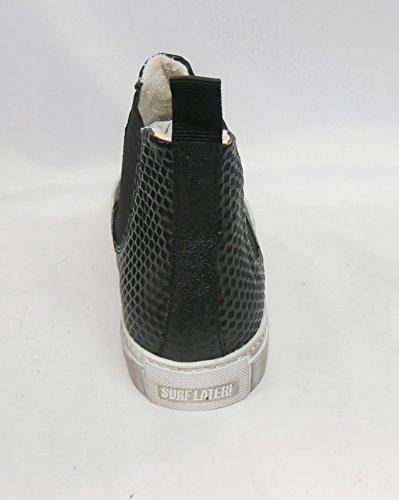 Stork Steps Samsim 27AK020, Damen Fashion Sneakers, Schwarz (Black 207), EU 40