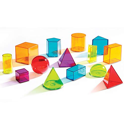 Learning Resources View-Thru Geometric Solids, 14 Pieces