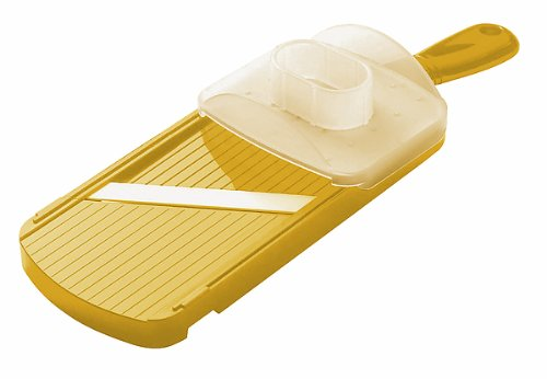 Kyocera Advanced Ceramic Double-edged Mandolin Slicer with Guard, Yellow
