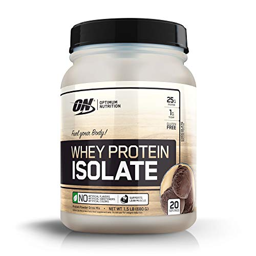 Optimum Nutrition Whey Isolate Protein Powder, Chocolate 1.81 lbs, 20 Servings