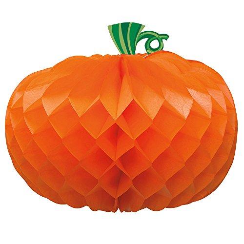 Honeycomb Orange Pumpkin Halloween Decoration