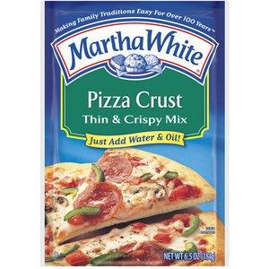 Martha White, Pizza Crust, Thin & Crispy Mix, 6.5oz Pouch (Pack of 6)