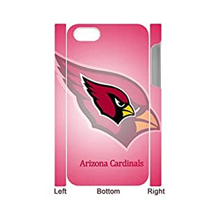 Generic Hard Phone Cases For Girly Custom Design With Nfl Arizona Cardinals For Iphone 4 4S Full Body Choose Design 1-5