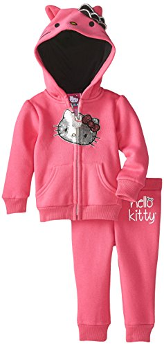 Hello Kitty Baby Girls' 2pc Hoodie and Pant Set, Passion Fruit, 3-6 Months
