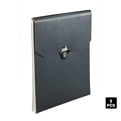 Comix Expanding File Folder, 5-Pocket Vertical Expandable File Folder (A3105-Titanium)