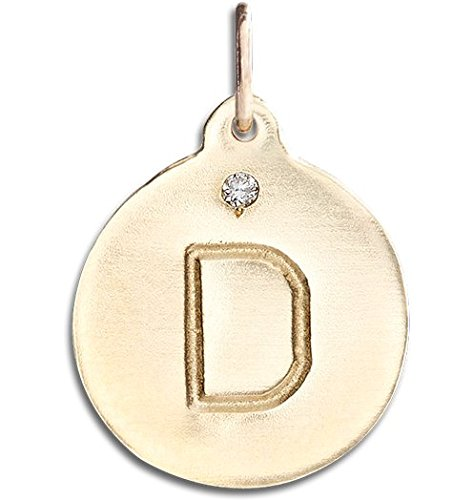 "Helen Ficalora ""D"" Alphabet Charm With Diamond"