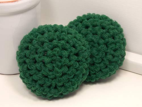 (Dark Green Reusable Nylon Dish Scrubbies Set of 2)