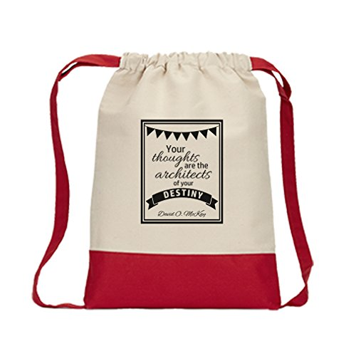 Drawstring Bag Canvas Your Thoughts Architects Your Destiny Home Style...