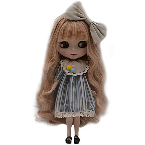 (1/6 BJD Doll is Similar to Neo Blythe, 4-Color Changing Eyes Matte Face and Ball Jointed Body Dolls, 12 Inch Customized Dolls Can Changed Makeup and Dress DIY, Nude Doll Sold Exclude Clothes (SNO.29))
