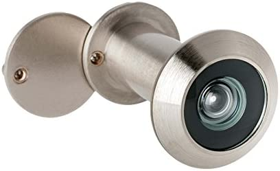 Türspion Mit Sichtschutz Echtglaslinse 14 Mm Bohrloch Weitwinkel 200 Farbe Edelstahl Satiniert Baumarkt