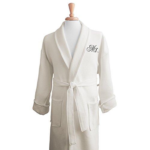 luxor-linens-100-organic-cotton-mr-mrs-medium-weight-spa-robe-perfect-wedding-gifts-ivory-mr