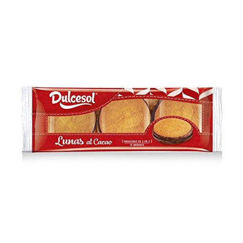 DULCESOL - Lunas (Bizcochos ballados de chocolate) - 12 unidades: Amazon.es: Alimentación y bebidas