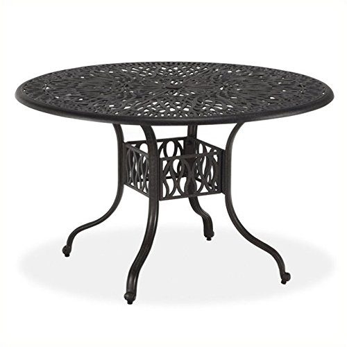 """BOWERY HILL 42"""" Round Patio Dining Table in Charcoal"""
