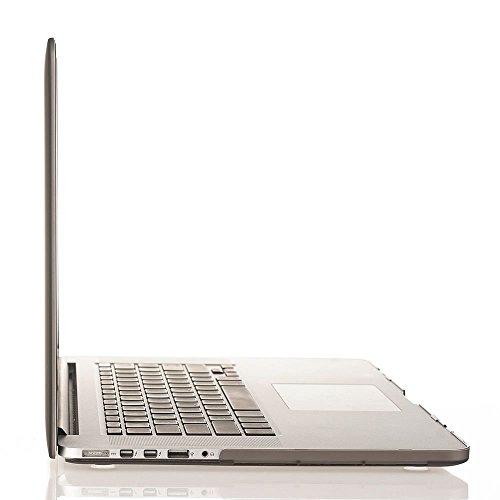 MOSISO Ultra Delgado Plástico Dura Funda Rígida Caso para MacBook Pro 13 Pulgadas con Pantalla Retina sin CD-Rom (A1502 / A1425, Versión 2015/2014/2013/fin 2012), Cuarzo Rosa Gris