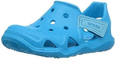 Crocs Unisex Kids Swiftwater Wave Shoe, Ocean, C8