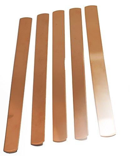 Copper Solid Bracelet - NinjaCrafters TEN (10) Solid Copper Bracelet Blanks - 1/2