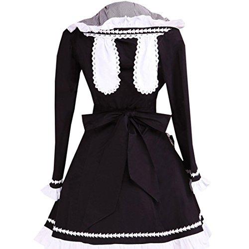 Suess Mantel Kleid Partiss Langarm Mit Lolita Kapuze Frauen Schwarz Damen YYqE4