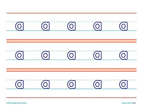 Raised Line Paper Manuscript Lower Case Letter Set