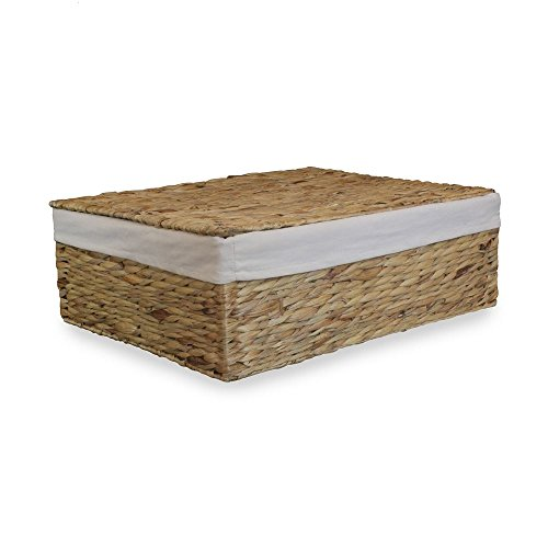 Water Hyacinth Under bed Storage Basket by Red Hamper