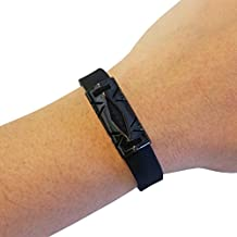 Premium Unisex Stainless Steel Fitbit Flex 2 Slide On Accessory - The HAYDEN Metal Cover to Protect & Enhance Your Fitness Activity Tracker