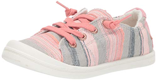 Roxy Girls' RG Bayshore Slip On Sneaker Shoe, Stripe Barely Pink, 3 Medium Youth US Big Kid