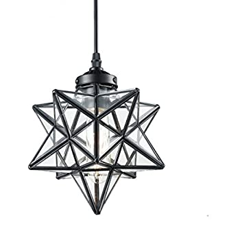 18 Inch Moravian Star Pendant Lights Clear Glass Amazoncom