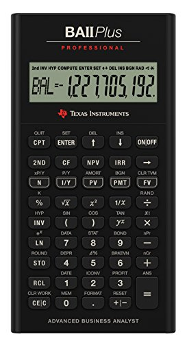 Texas Instruments BA II Plus Professional Financial Calculator (IIBAPRO/TBL/1L1) by Texas Instruments (Image #1)