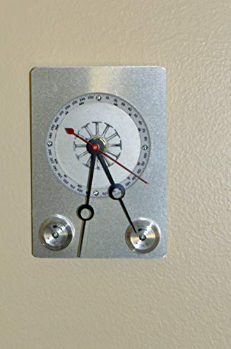 Recycled Wall clock with camera film wind dials, and flight computer parts artists signed