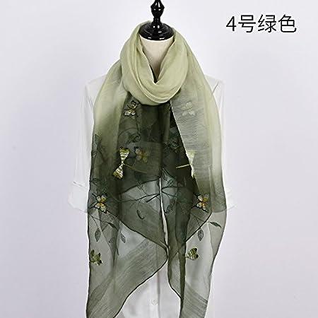 FLYRCX Foulard en Soie Naturelle dames brodé à usages multiples cadeaux de luxe  chers foulard 190cmx80cm,B  Amazon.fr  Sports et Loisirs e324ed74e45