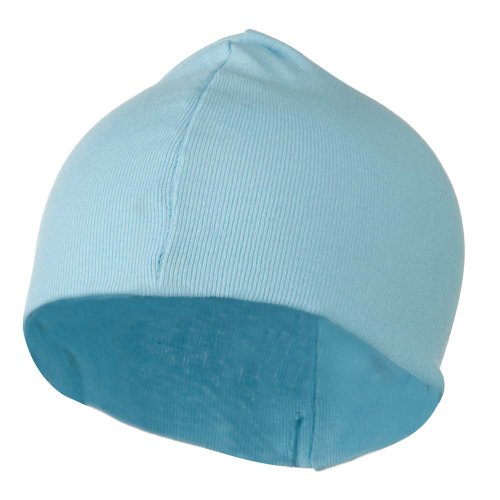 nice Infant Cotton Baby Rib Beanie- Light Blue W18S27D get discount