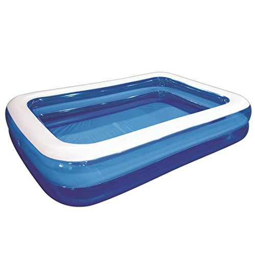 Kids Inflatable Swimming Pool (Giant Inflatable Kiddie Pool - Family and Kids Inflatable Rectangular Pool - 10 Feet Long (120