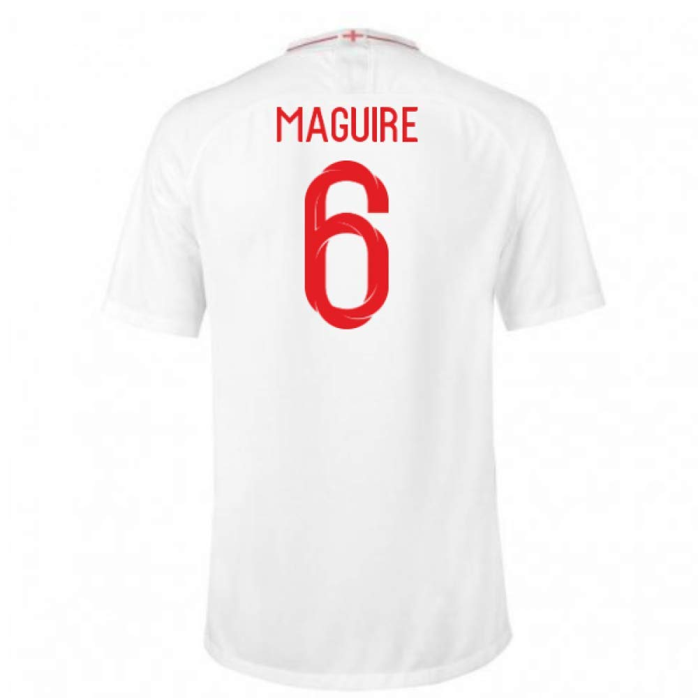2018-2019 England Home Nike Football Soccer T-Shirt Trikot (Harry Maguire 6)