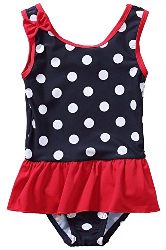 ALove Baby Girls Ruffle One Piece Swimsuit Toddler Swimwear Bathing Suits 6/12M -