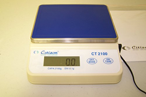 Citizen CT2100 Compact Portable Scale, Lab Balance 2100x0.1 g, Counting, Pan size 6.5