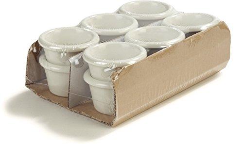 Carlisle S275-842 Smooth Melamine Sauce Cup, 1.5 oz, Bone (Pack of 12) ()