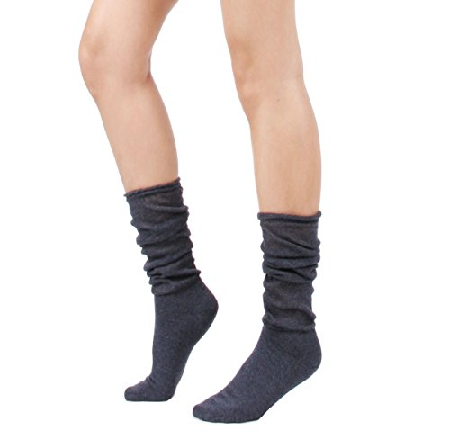 Women's Spring Summer Lightweight Slouch Socks (One Size : XS to M, Navy) ()