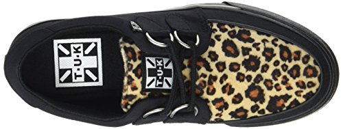 A9181 Men's Black Black Canvas Sneakers Animal and Canvas T K U Leopard Black Print Black Leopard pwtqxoBg