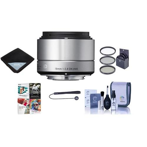 Sigma 19mm f/2.8 DN ART Lens for Sony E-mount, Silver - Bund