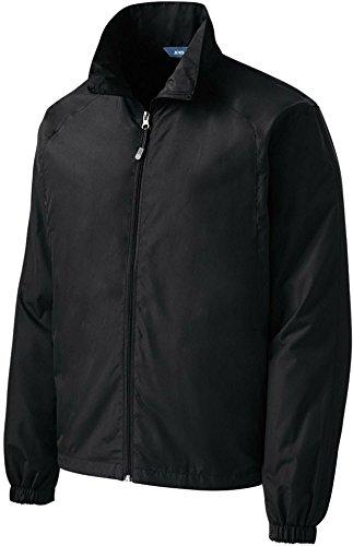 Joe's USA tm Mens Lightweight Full-Zip Wind Jacket-Black-3XL (Zip Lightweight Full Wind Jacket)