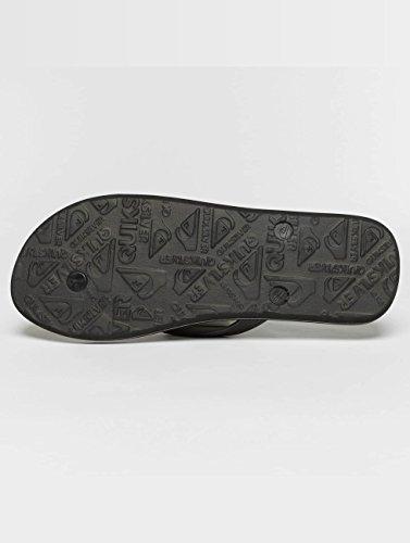 8 Black Grey Fade Slash Molokai Quiksilver UK Flip Black Logo Flops vgUxwqT