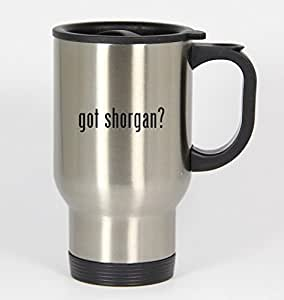 got shorgan? - 14oz Silver Travel Mug