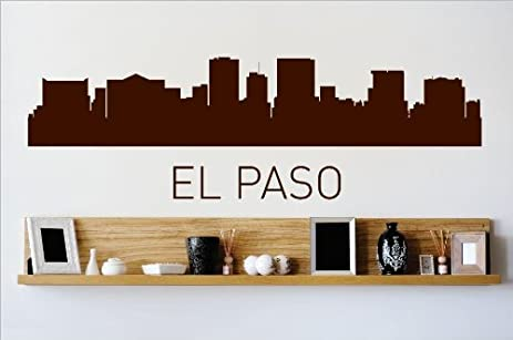 Decal vinyl wall sticker el paso texas tx skyline city view beautiful scene landmarks