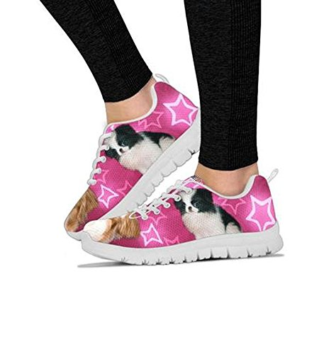 Japanese Choose Your Chin Women's Shoetup Pet Dog Breed Running Print Sneakers Shoes Lightweight Sneakers zqw8q7yf