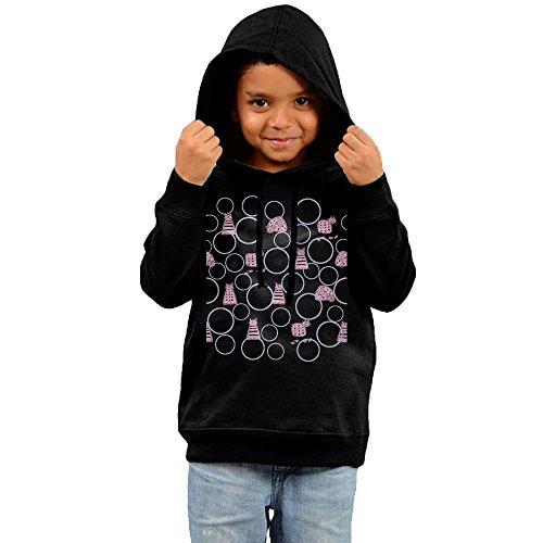 Kid's Color Cat Kitty Look At You Toddler Boys Girls Long Sleeve Hoodies Sweatshirt (Child Black Kitty Hoodie)