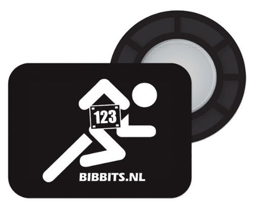 BibBits Magnetic Race Bib Holders (Runner Design) (Black)