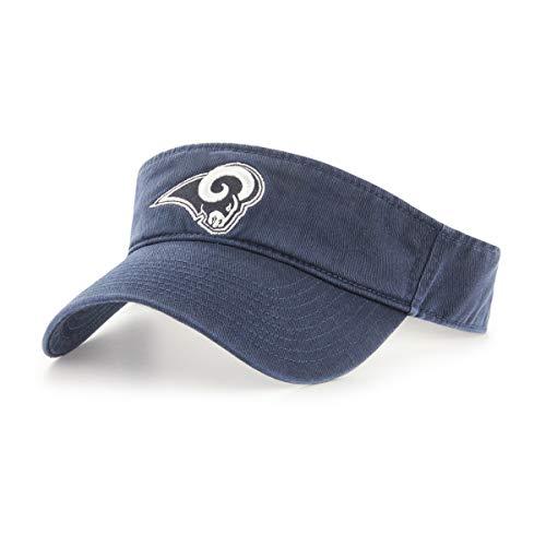 OTS NFL Los Angeles Rams Men's Visor Adjustable, Navy, One Size