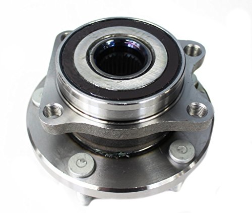 Detroit Axle - Front Driver or Passenger Side Wheel Hub and Bearing Assembly for - 2003-2007 Infiniti G35 Coupe RWD and 350z