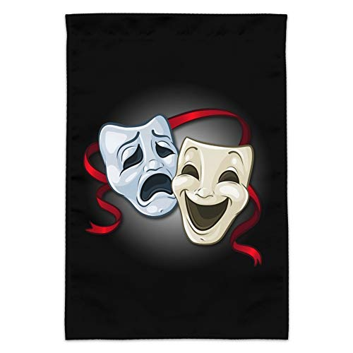 Graphics and More Drama Comedy Tragedy Masks Theater Garden Yard Flag (Pole Not Included)