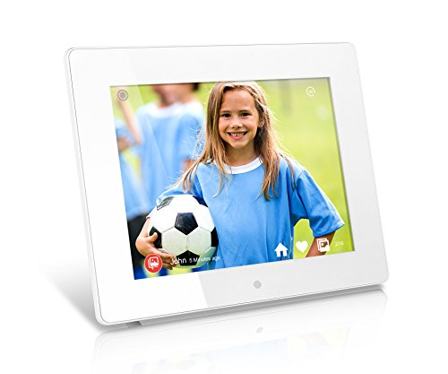 Aluratek 8 Inch Wifi Digital Photo Frame With Touchscreen Ips Lcd